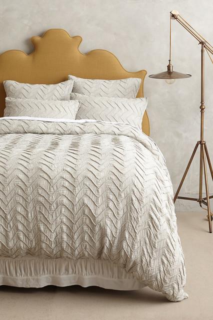 Textured Chevron Duvet - Contemporary - Duvet Covers And Duvet Sets