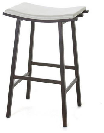 Curved Seat Backless Non Swivel Stool Counter Height 26