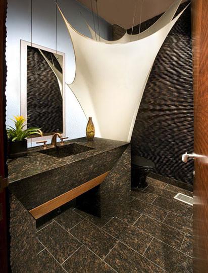 Crystal Mahogany modern-bathroom