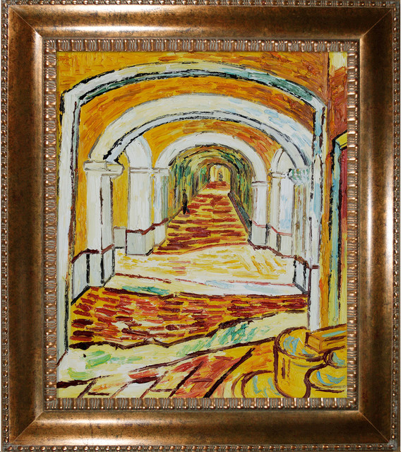 Van Gogh - Corridor of Saint-Paul Asylum in Saint-Remy Oil Painting modern-artwork