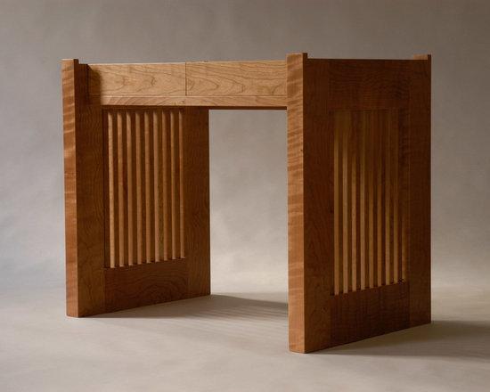 Desk base, cherry. - Designed by Rita St. Clair & Associates, Baltimore