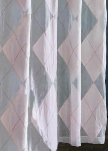 Pink Argyle Organdy Shower Curtain modern-shower-curtains