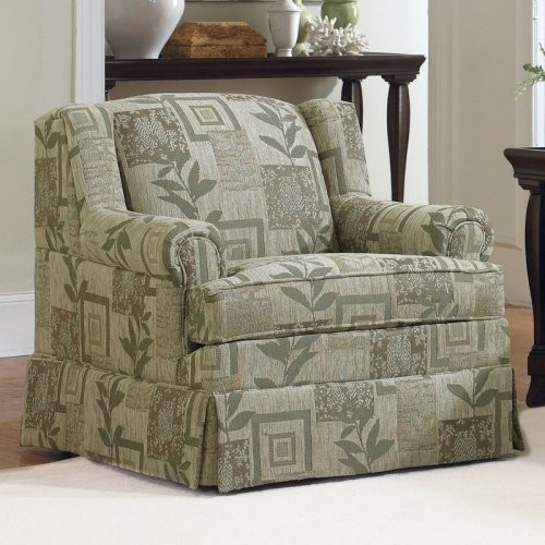 Charles Schneider Ferncrest Wasabi Fabric Accent Chair traditional armchairs