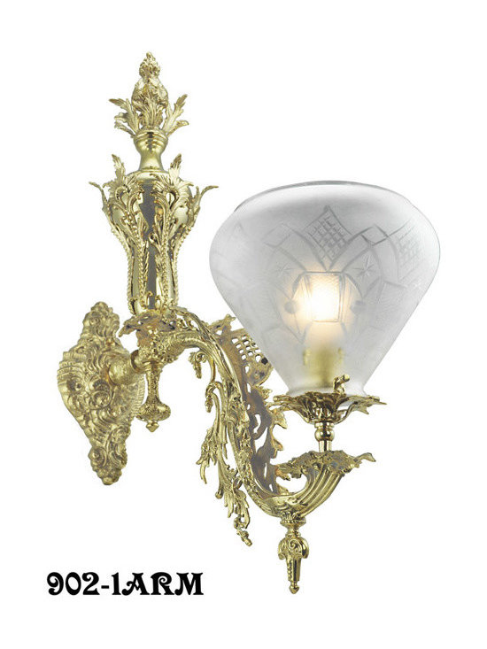 Victorian Chandeliers - Early American Rococo gas lighting fixtures are very rare nowadays. There are only 5 catalogs that are known to have existed between 1840 and 1870. We have been fortunate enough to to find no less than 8 original light fixtures of various sizes and configurations that were originally manufactured by Starr, Fellows.We recast from these original fixtures for a completely accurate reproduction.