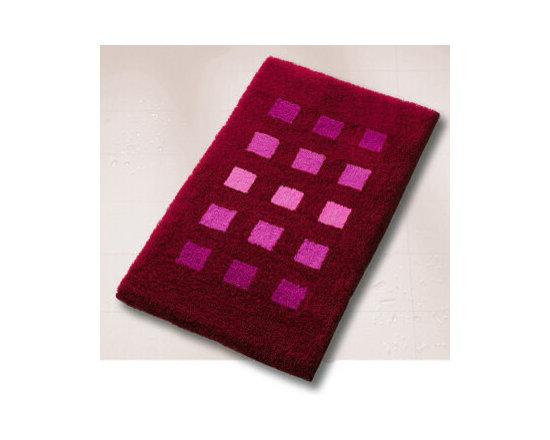 Premium Contemporary Bath Rugs from Vita Futura - High quality, luxury bath rug with a contemporary, multi tone block design.