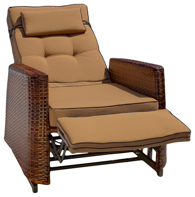 Westwood Outdoor Glider Recliner Chair Beach Style Outdoor Lounge Chairs