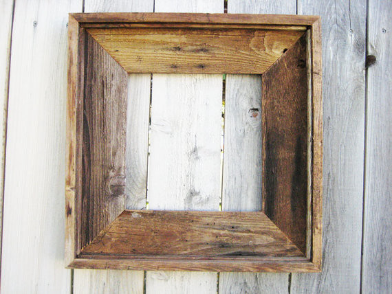 Rustic Reclaimed Wood Frame By Cottage