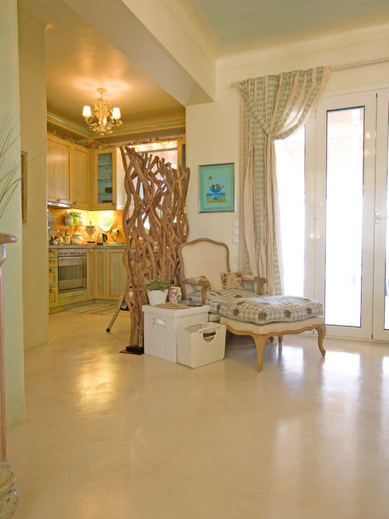 Photos from houses and residences in the Mediterranean Sea - Floor in a residence, Poros Greece