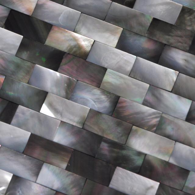Black Lip Mother Of Pearl Mosaic Tiles Shell Tiles