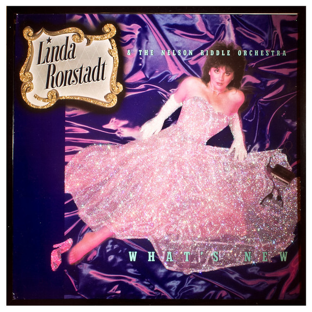 Glittered Linda Ronstadt What's New Album - Eclectic - Game Room Wall Art And Signs - by mmm designs