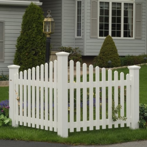 Highwood USA Pottsville Decorative Corner Picket Fence contemporary-home-fencing-and-gates