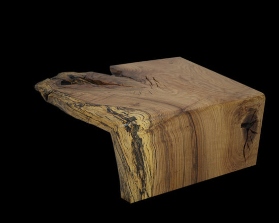 Spalted Oak Flowing Grain Coffee Table - The beauty of the early stages of rot can be remarkable in nature.  And it certainly is in full view here, in this small spalted coffee table.