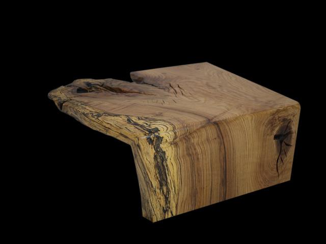 Spalted Oak Flowing Grain Coffee Table Eclectic