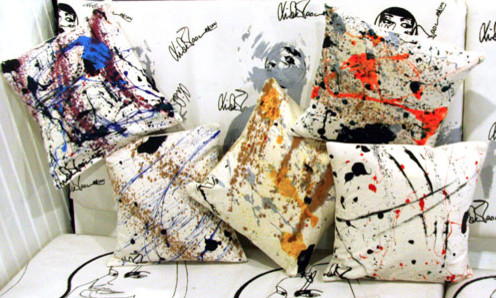 Splatter Pillows contemporary pillows