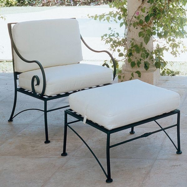 Sheffield Wrought Iron Lounge Chair  outdoor chairs