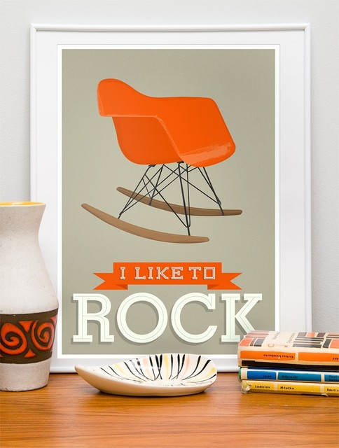 I Like to Rock - EAMES RAR poster modern-prints-and-posters