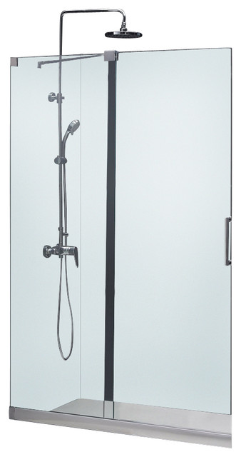 Mirage Frameless Sliding Shower Door and SlimLine Single Threshold Shower Base contemporary-bath-products