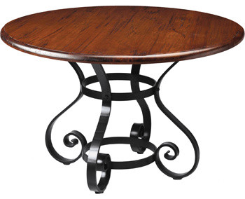 Regency Round Dining Table, Iron - Traditional - Dining ...