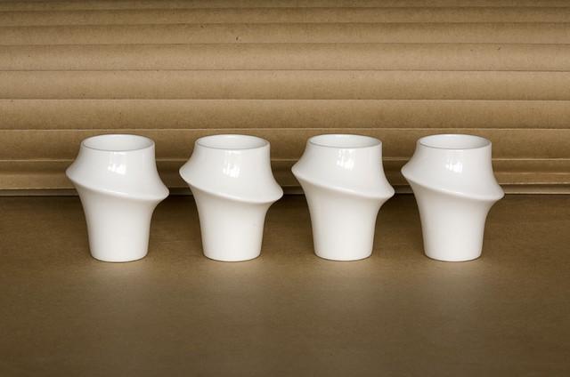 Arctic Bamboo sake cups / shot glasses - set of 4 | Reiko Kaneko hardwood-flooring