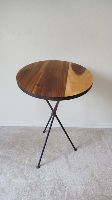 Mid Century Modern Round Side Table : ... Mid Century Modern Round Accent Table, Pedestal Table contemporary