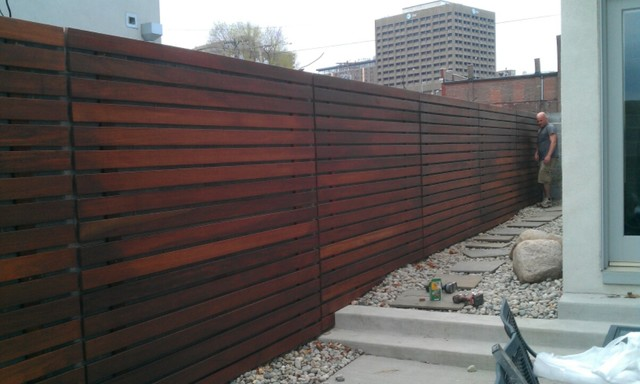 Wood Screen Wall : Riverside screen wall home fencing and gates kansas