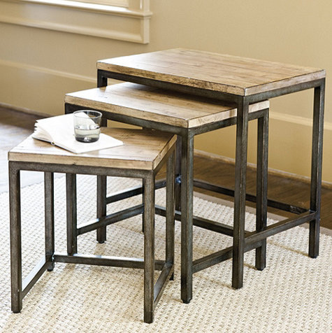 Durham Nesting Tables Industrial Side And End