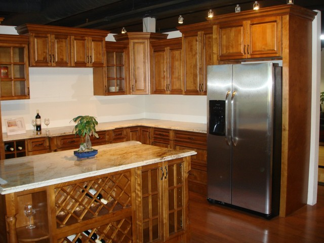 Toffee color kitchen Cabinets Modern Kitchen Cabinetry