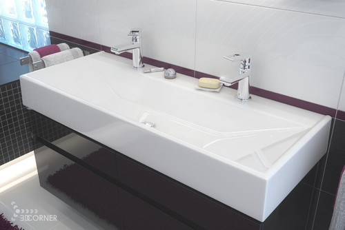 Innovative Inspiring Double Sink Bathroom Rugs Floor Home Design  BATHROOM