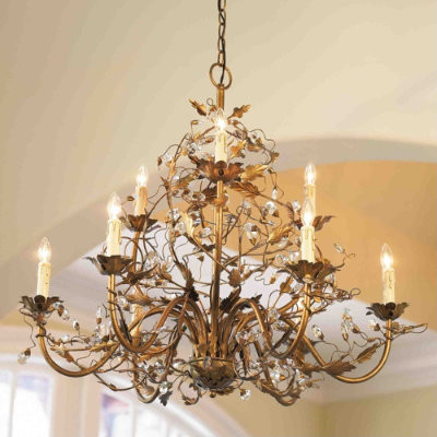 9-Arm Grande Claire Chandelier traditional chandeliers