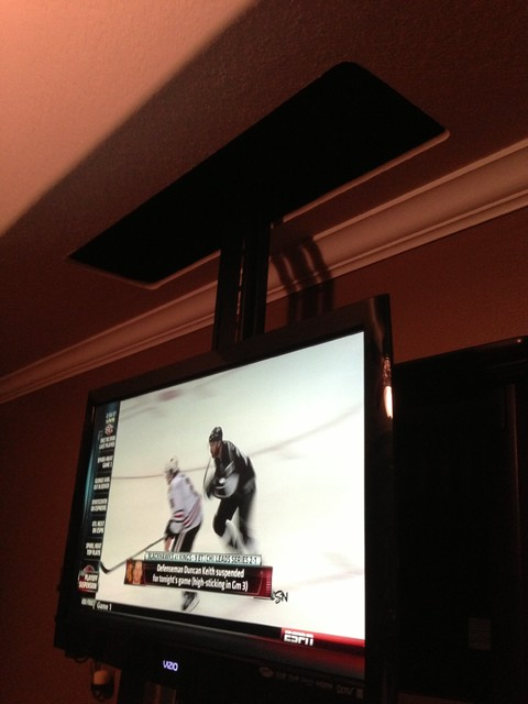 Bedroom drop down tv contemporary-home-electronics