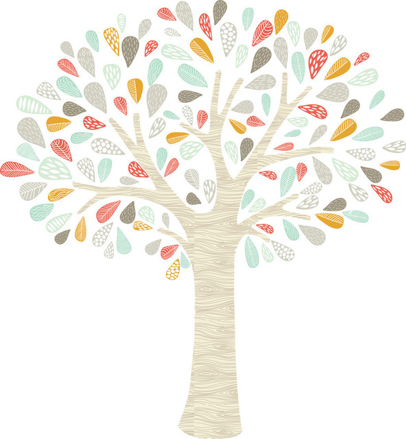 Whimsical Tree - Removable Wall Decal - Self Adhesive ...