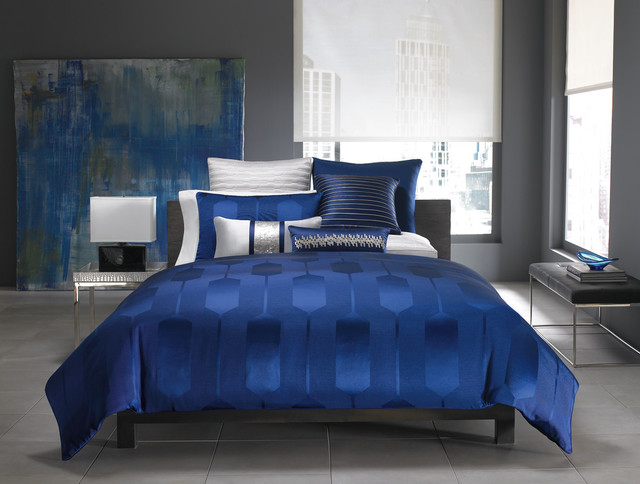 Hotel Collection Bedding Links Cobalt Collection Contemporary Bedding Other Metro By