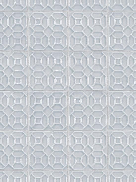 "Ceramic - ANN SACKS Circa 4"" x 4"" canton ceramic field in azure crackle"