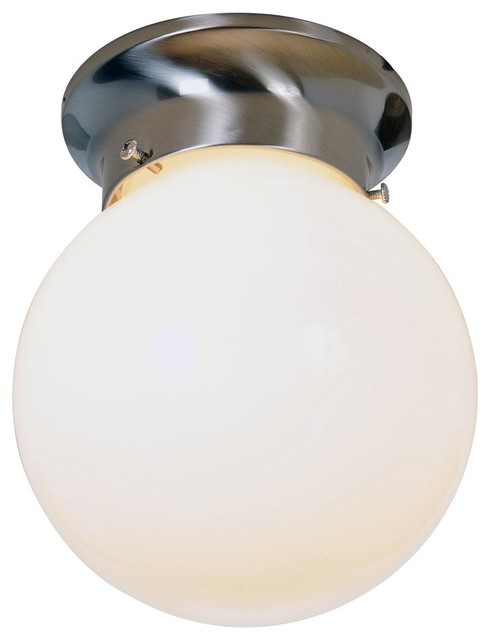 Vanity Light Fixture Globes : Globe 6 inch Ceiling Fixture - Brushed Nickel - Modern - Bathroom Vanity Lighting - by Shop Chimney