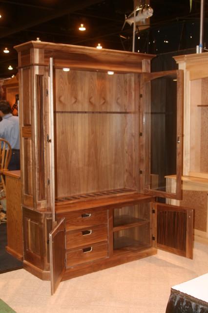 Walnut Rifle Cabinet - orlando - by Figueroa's Fine Custom Furniture