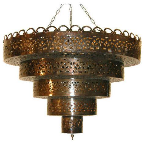 Tole chandelier