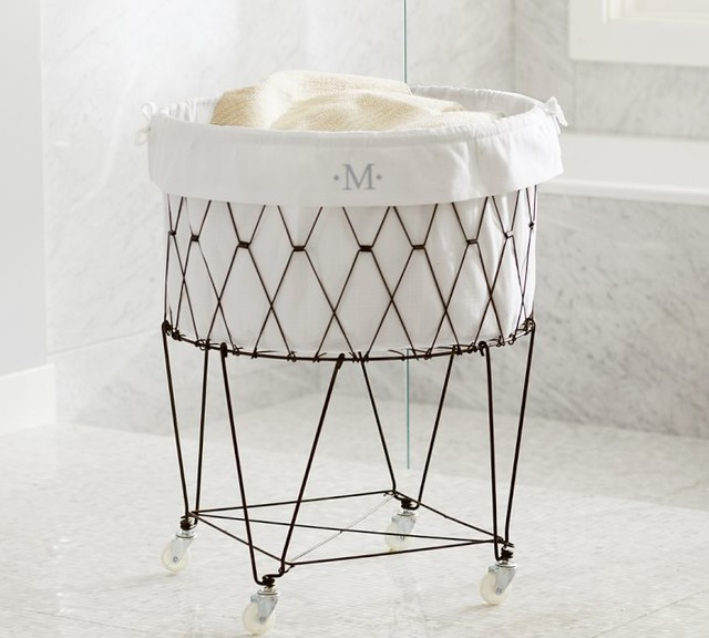 French Wire Hamper Amp Liner Contemporary Hampers Pottery Barn