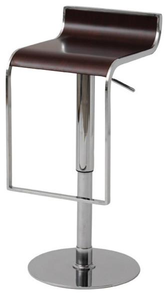 Nero bar stool dark wood modern bar stools and for Dark wood bar stools