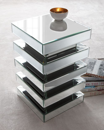Mirrored Garden Seat traditional-side-tables-and-end-tables