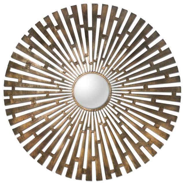 Tremeca Brass Starburst Mirror traditional-wall-mirrors
