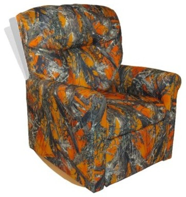 Dozydotes Contemporary Rocker Recliner - Blaze Camouflage modern-kids-chairs