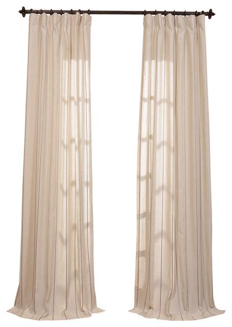 trinidad hemp linen blend stripe curtain traditional
