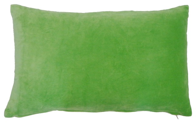 Small Green Throw Pillow : Small Green Velvet Pillow - Contemporary - Decorative Pillows - by Jiti