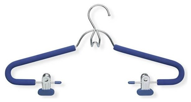 Foam Hanger with Clips - Pack of 2 contemporary-hooks-and-hangers