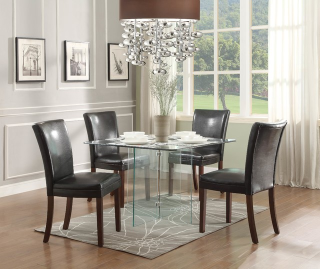 square glass dining table contemporary dining tables by beyond