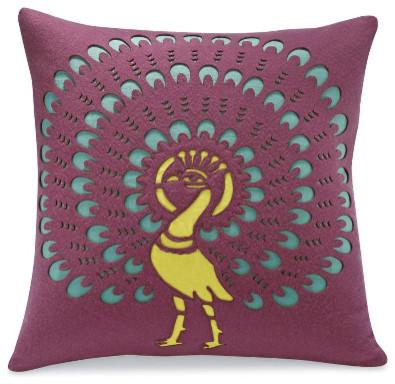 Peacock Pillow eclectic-decorative-pillows