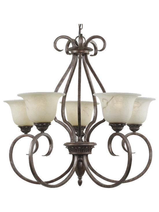 Royce Lighting - Royce Five Light Chandelier from the Birmingham Collection - Product Description:-