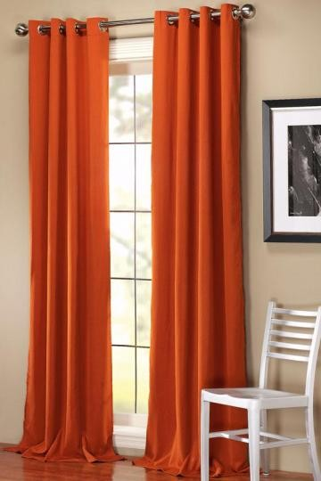 Bela Drapery Panel, Terra Cotta contemporary-curtains