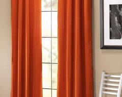 Bela Drapery Panel, Terra Cotta contemporary-curtains