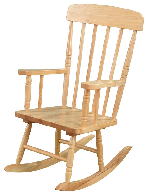 kids spindle wooden rocking chair natural contemporary rocking chairs